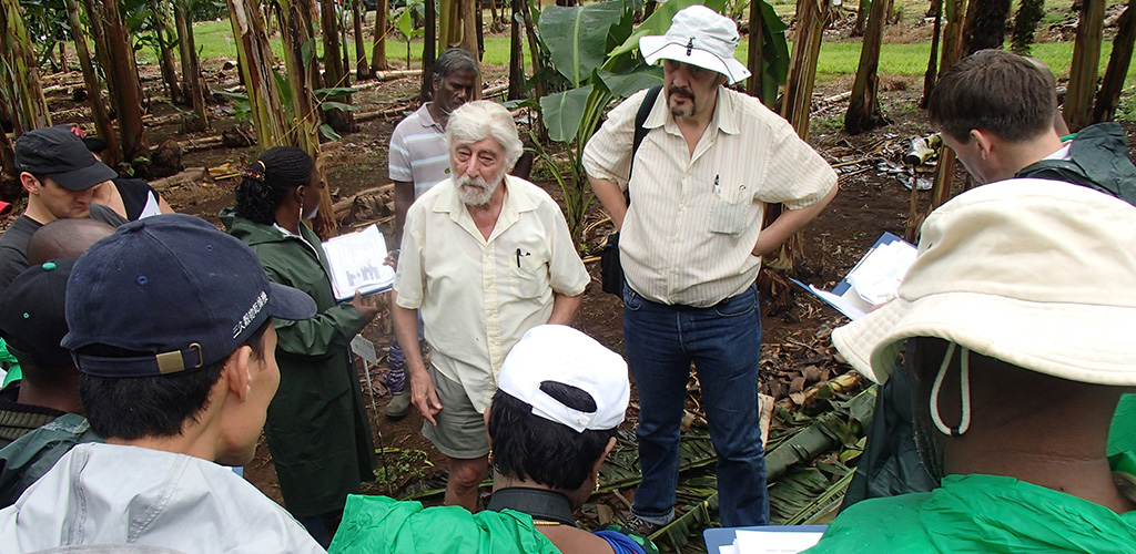 Curators with Edmond De Langhe and Jean-Pierre Horry in Guadeloupe, photo by Rachel Chase